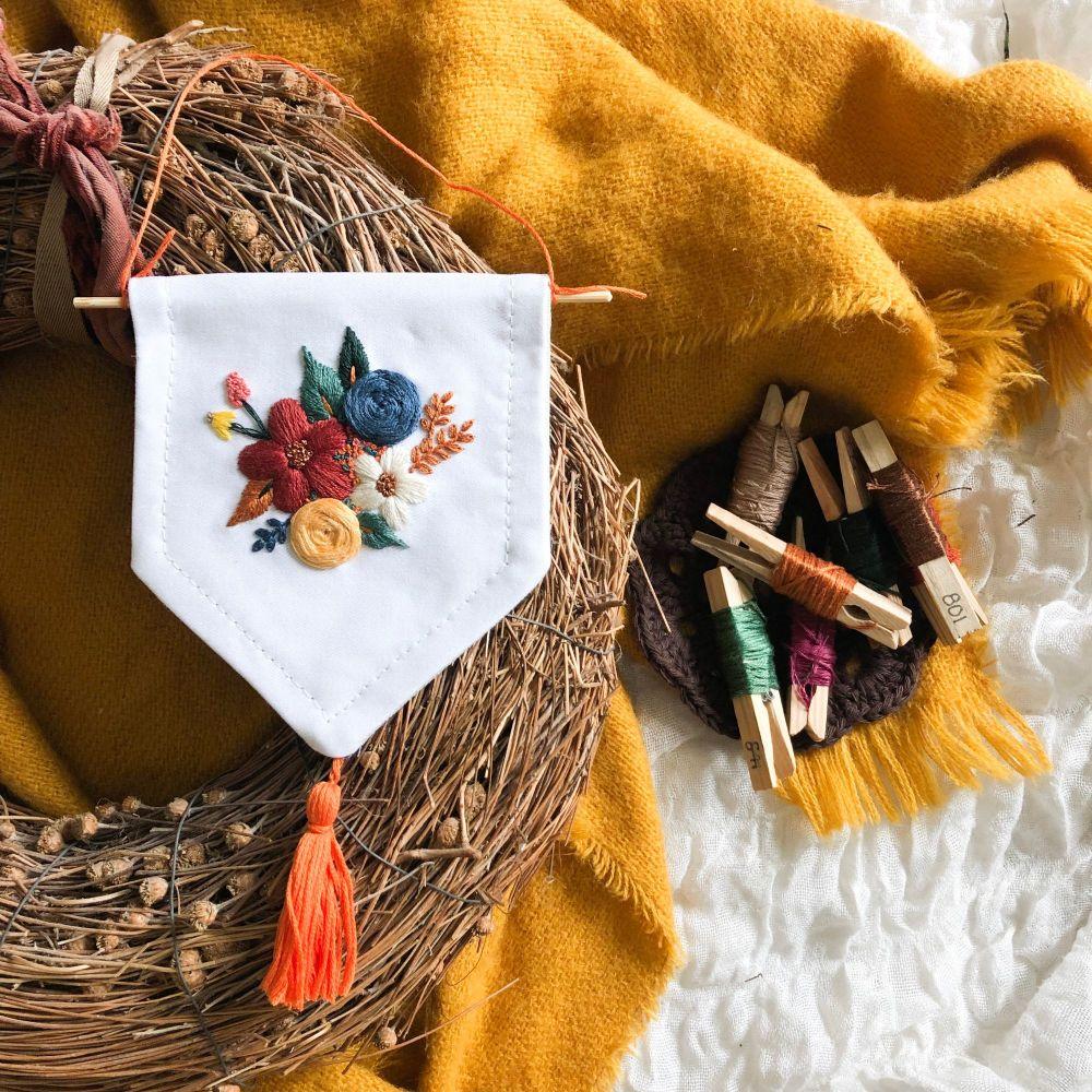 Autumn Floral Mini Banner