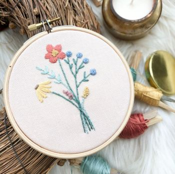 Spring Bouquet Embroidery Kit