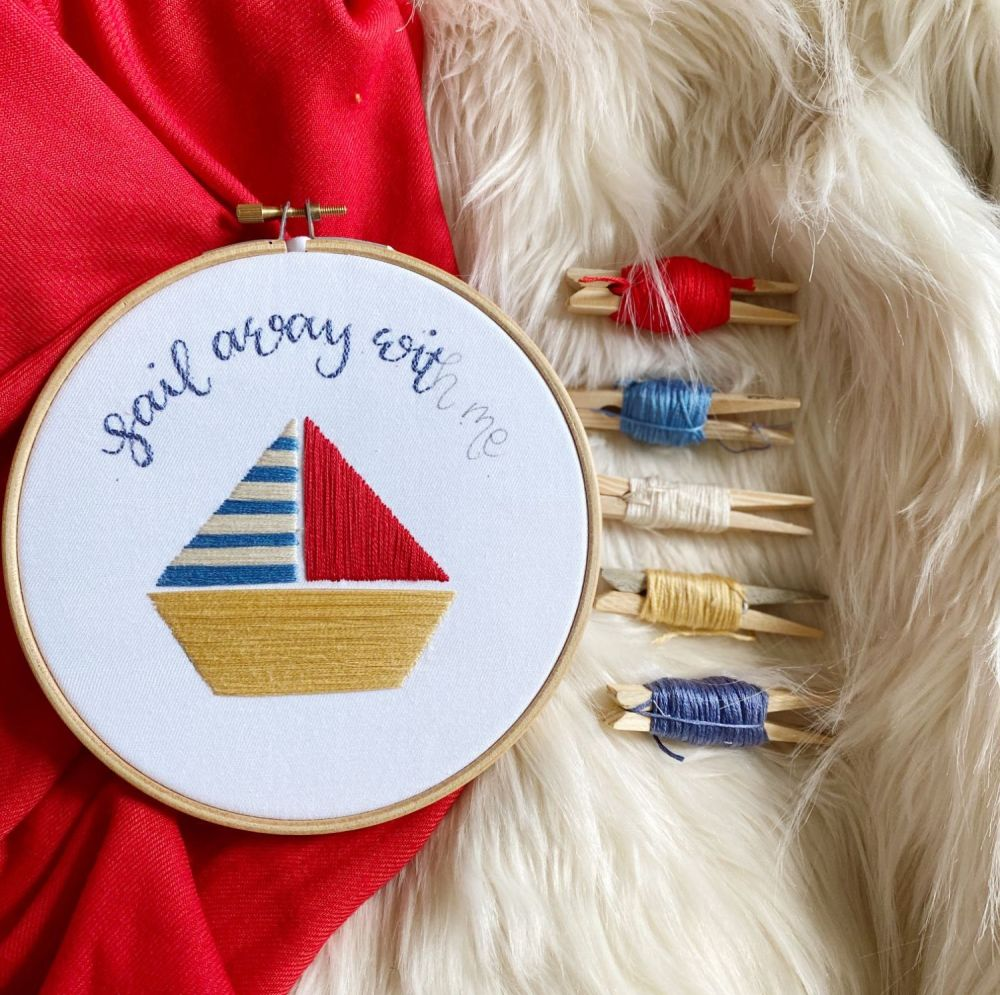 Sail Away With Me Embroidery Kit
