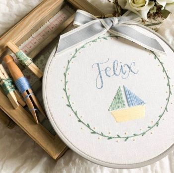 Set Sail Embroidery Kit