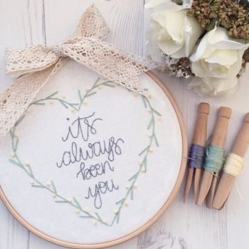 Quote of Hearts Embroidery Kit