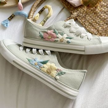 Summer Blush Limited Edition Embroidered Trainers