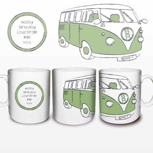 Green Camper Van Mug