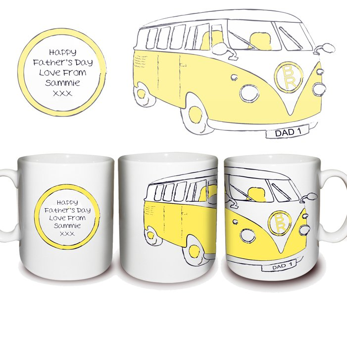 Yellow Camper Van Mug