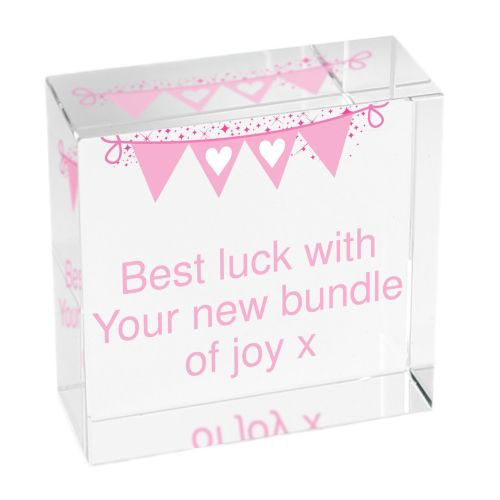 Bunting Pink Medium Crystal Token