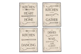 Assorted Vintage Cutlery Slogan Wall Plaques