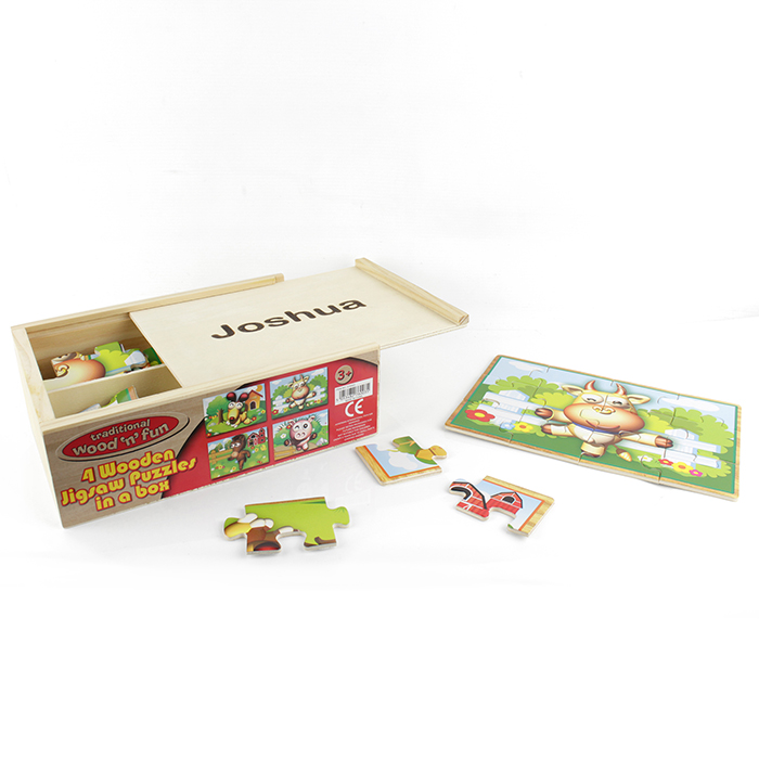 Farmyard Puzzles in Wooden Box