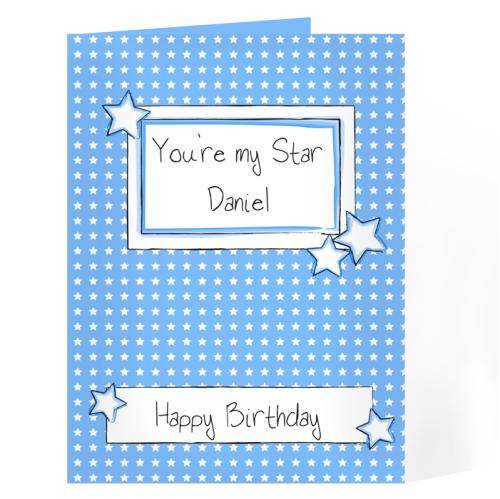 Blue Star Label Card