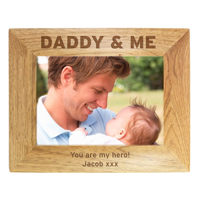 Daddy & Me 5x7 Wooden Frame
