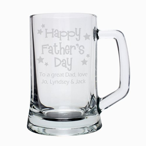 Happy Father's Day Stars Pint Stern Tankard