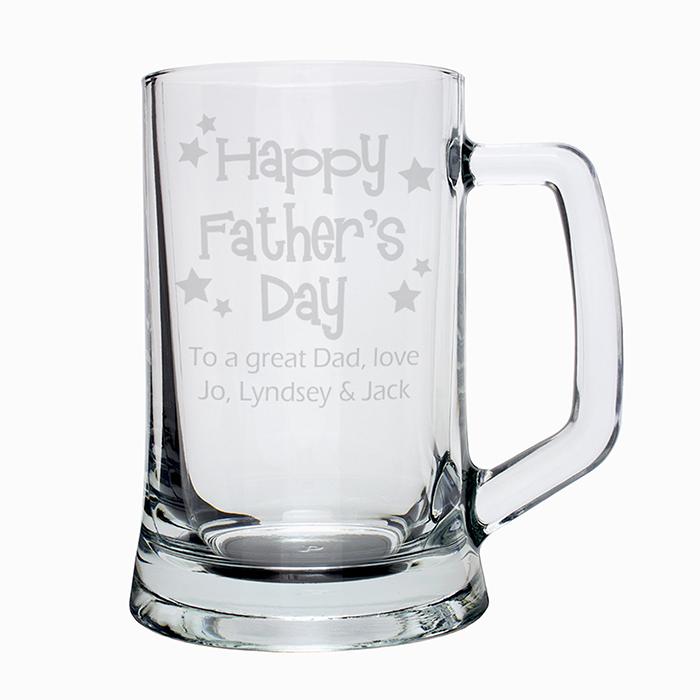 Happy Father's Day Stars Pint Stern Tankard