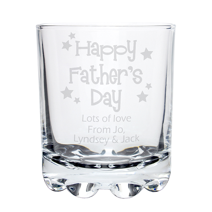 Happy Father's Day Stars Stern Whisky Glass