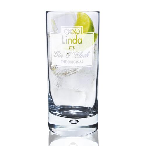 Gin O Clock Hi Ball Bubble Glass