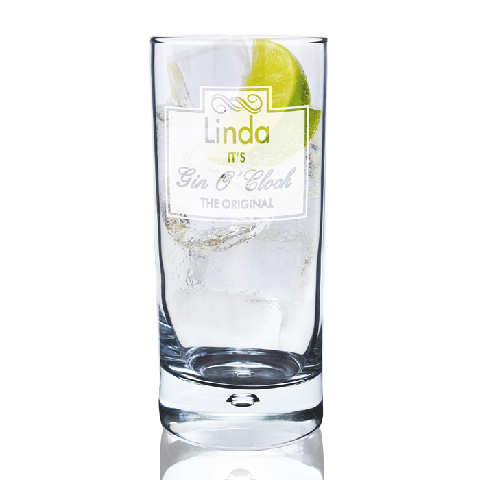 Gin O Clock Hi Ball Bubble Glass