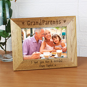 Personalised Grandparents Wooden Photo Frame