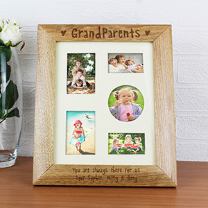 Personalised Grandparents Wooden Multi Photo Photo Frame