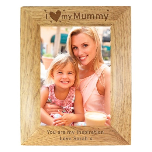 I Heart My Mummy 5x7 Wooden Frame