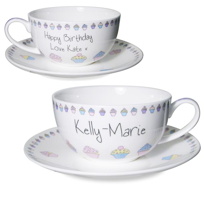 Cupcake Teacup & Saucer