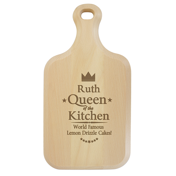 Queen of the Kitchen Large Paddle Chopping Board