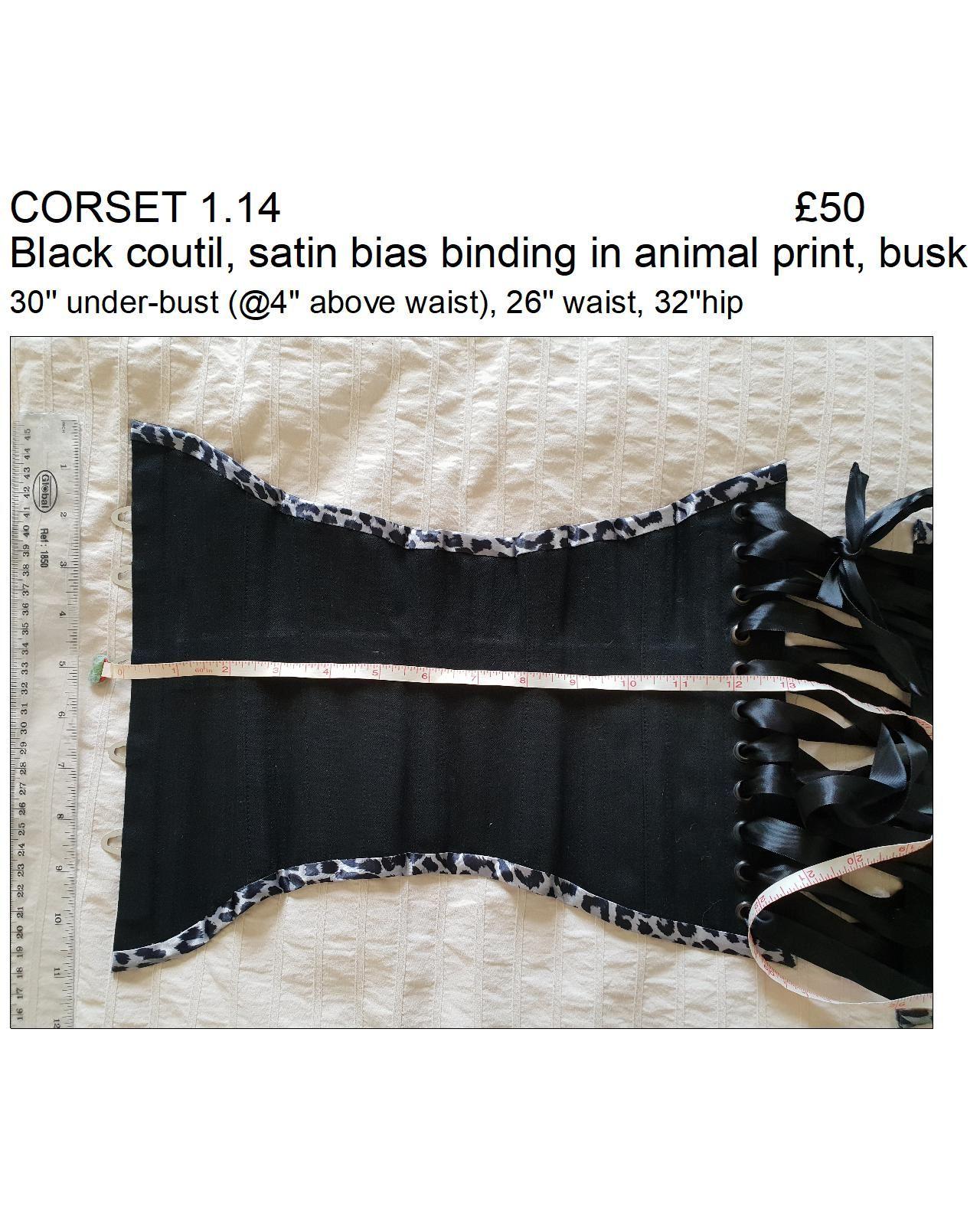 1.14 black animal print binding ub
