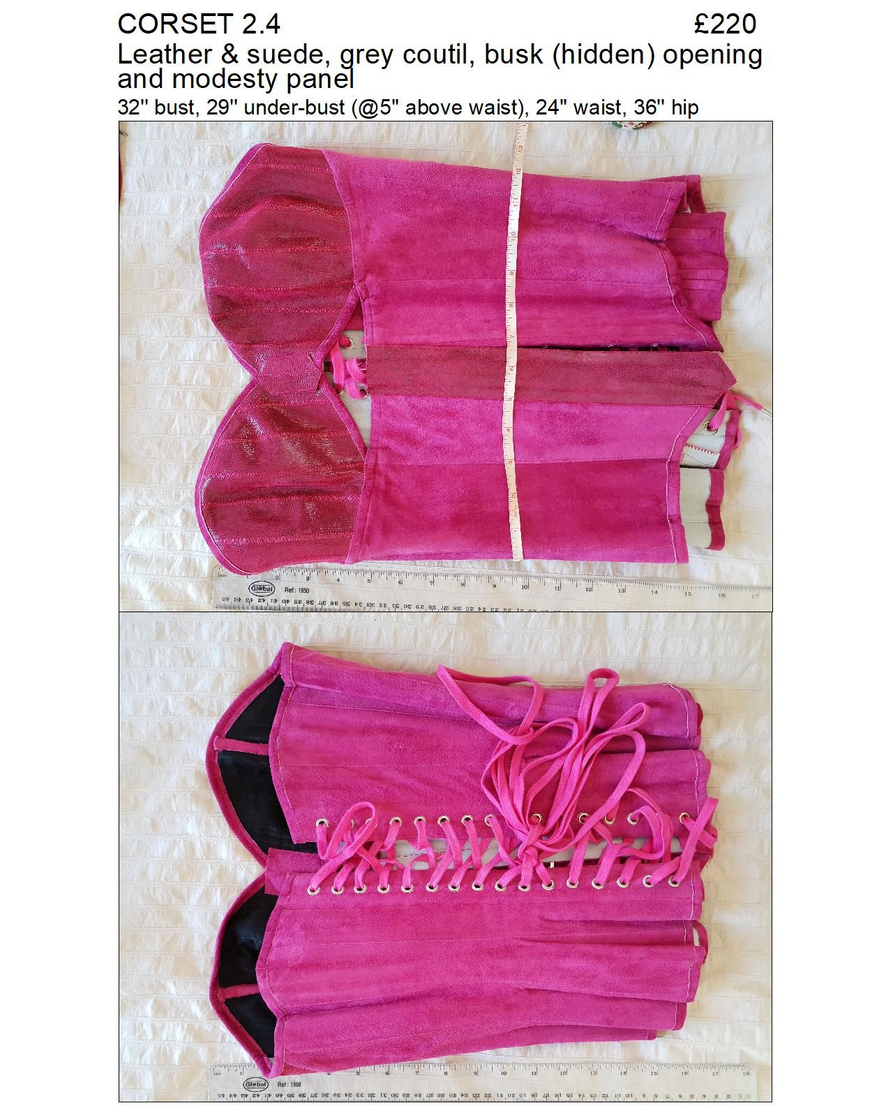 2.4 pink overbust