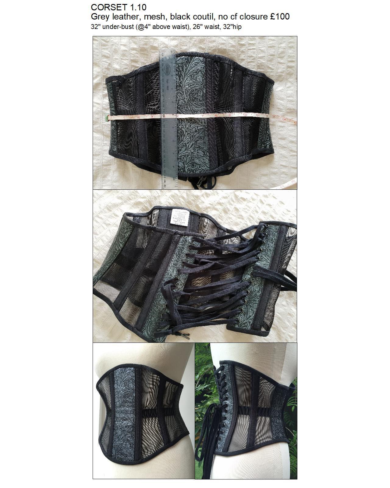 1.10 grey leather and mesh ub