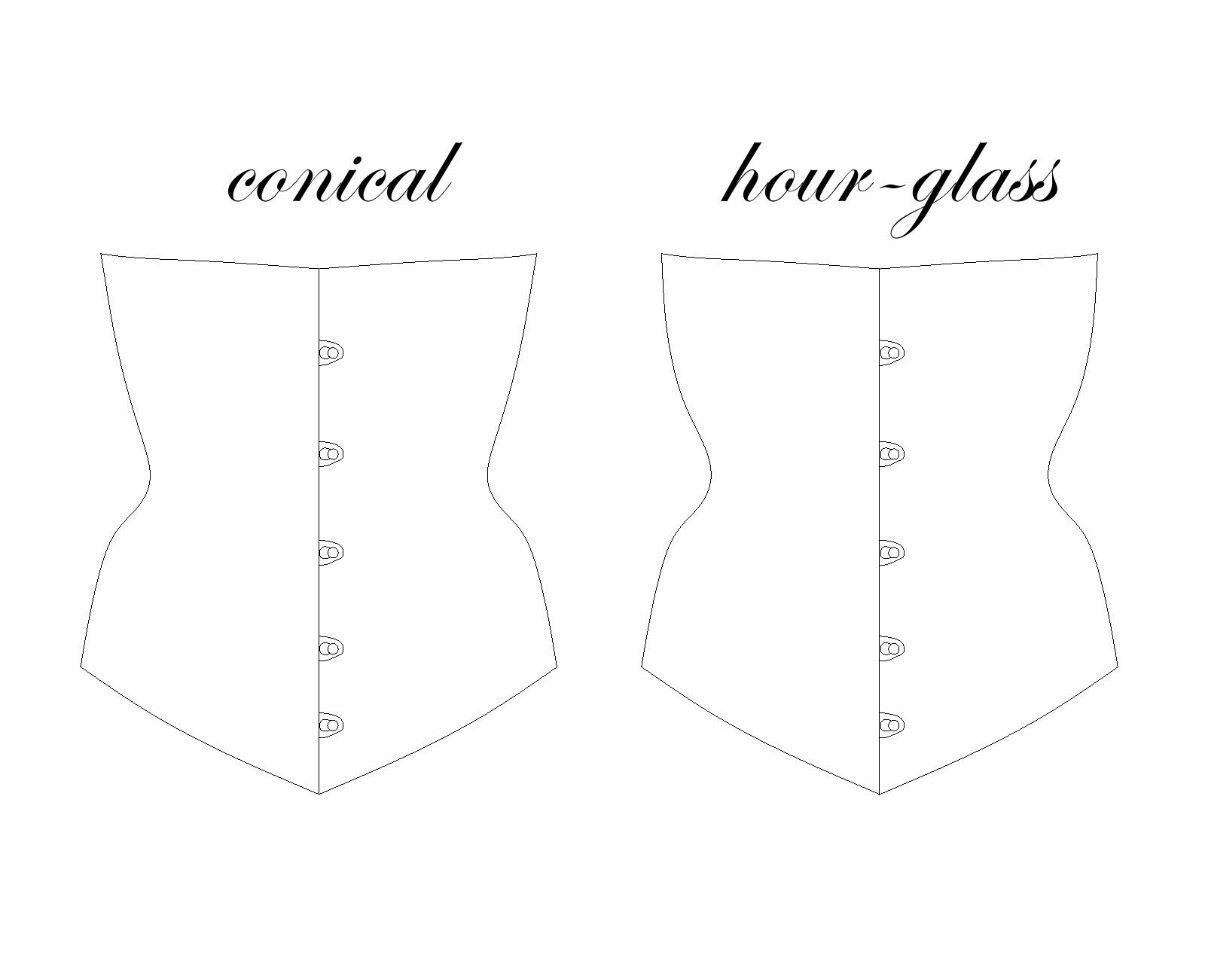 conical vs hourglass