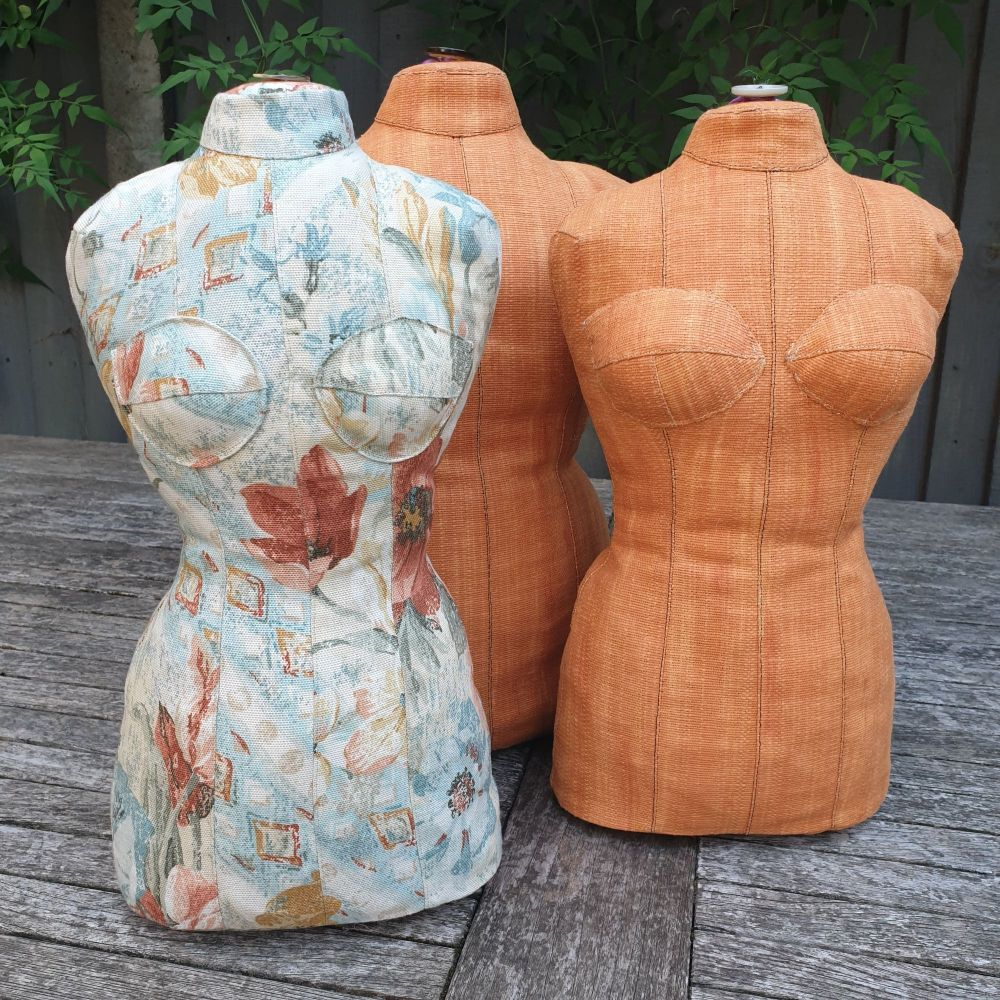 Corseted dress form (half-sized) digital pattern