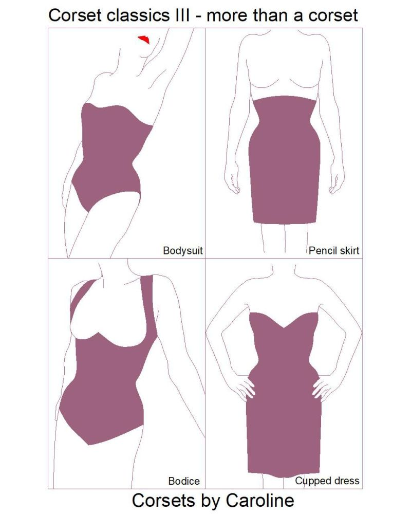 Corset Classics III - more than a corset: a selection of integrated corsetry patterns from Corsets by Caroline (sizes UK 10-20, US 6-16)
