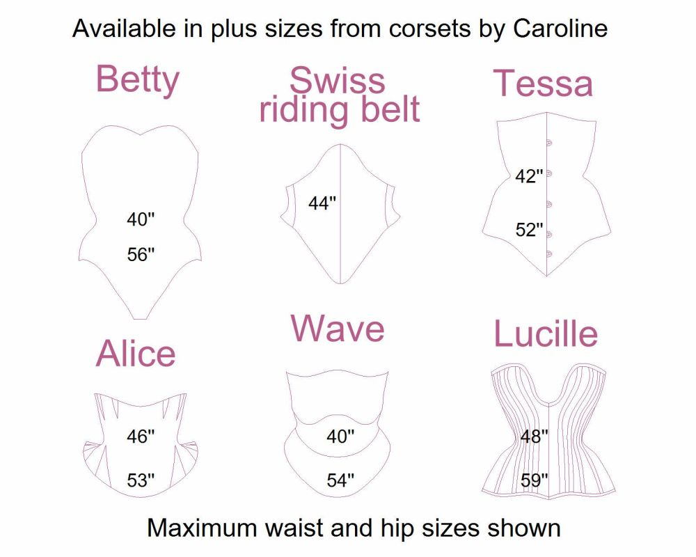 Plus sizes from corsets by caroline