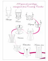 200 years of corset design reimagined - a collection of 10 patterns from 1715-1915