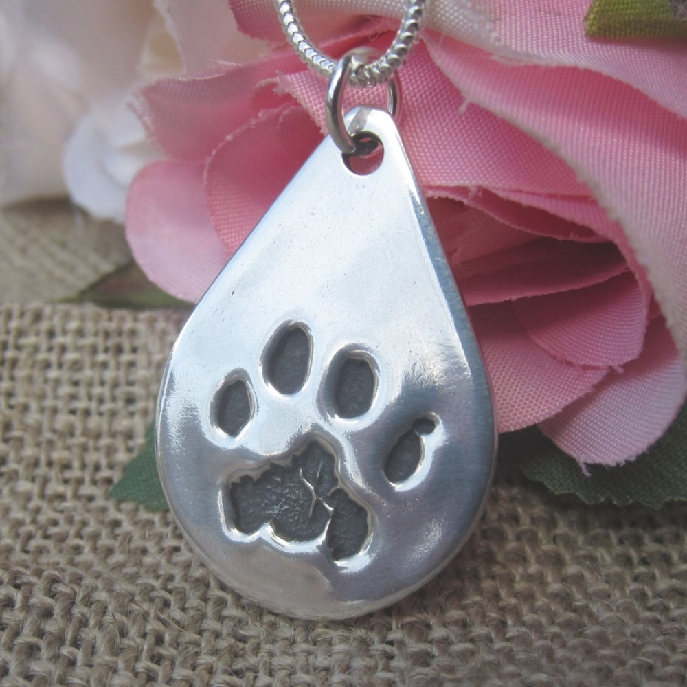 Paw Print Pendant (various shapes)