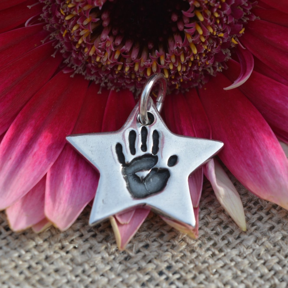 little star handprint charm