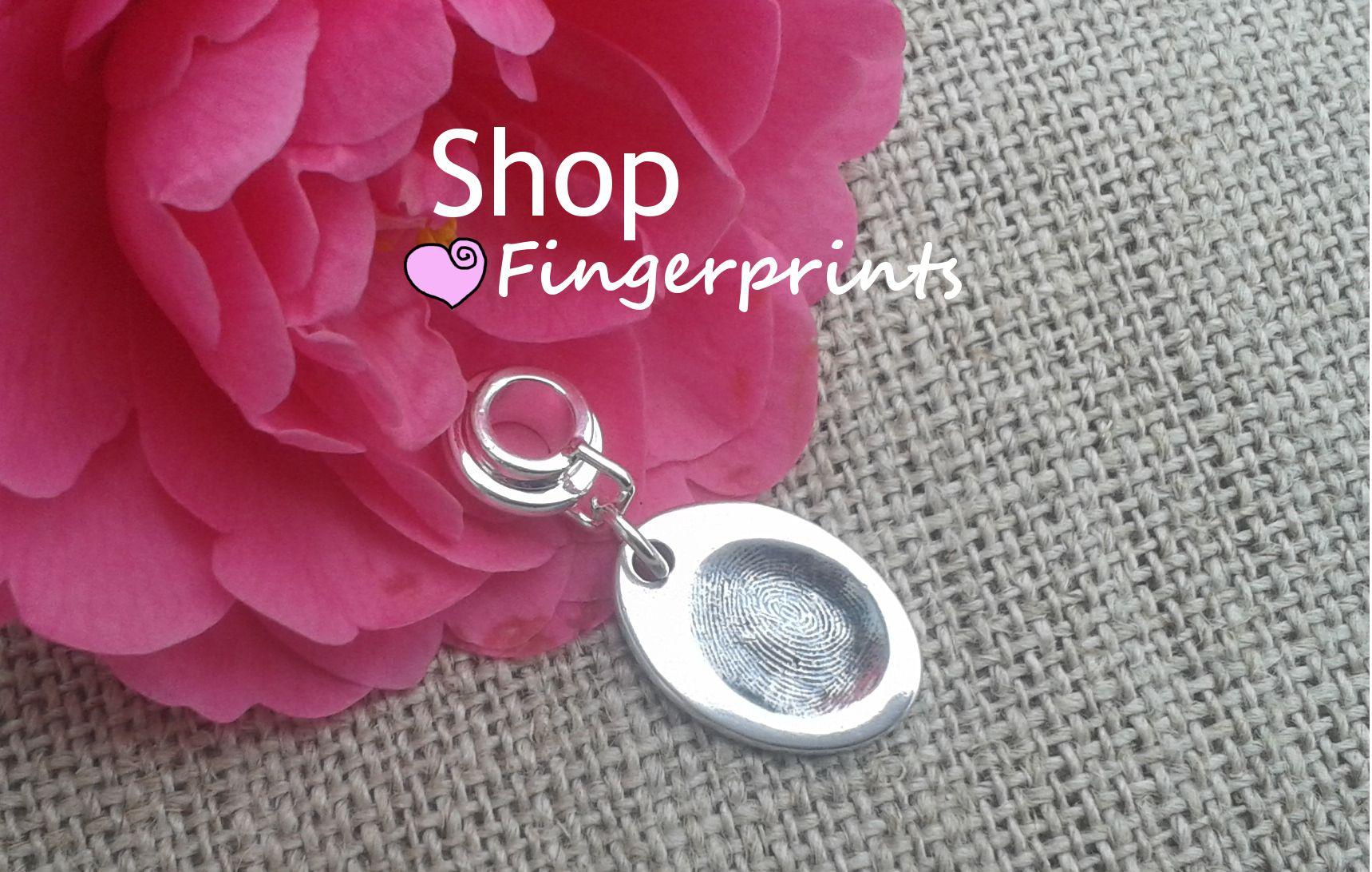 Handprint jewellery, fingerprint jewellery and paw print jewellery ...