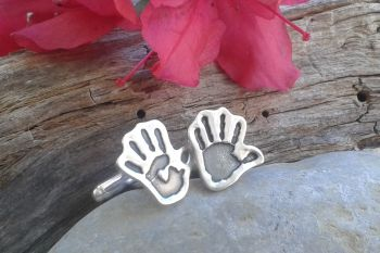 Cut Out Hand/ Footprint Cufflinks