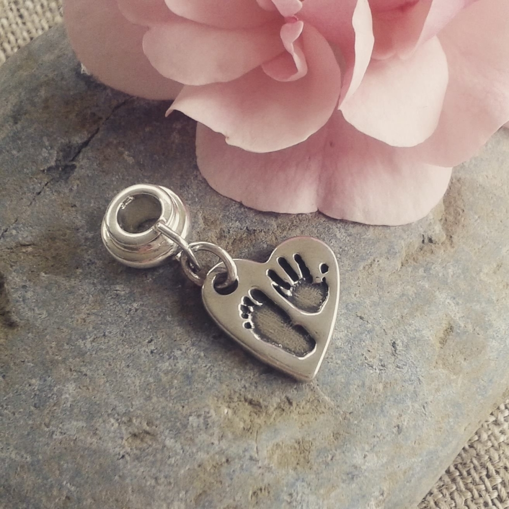 handprint and footprint charm