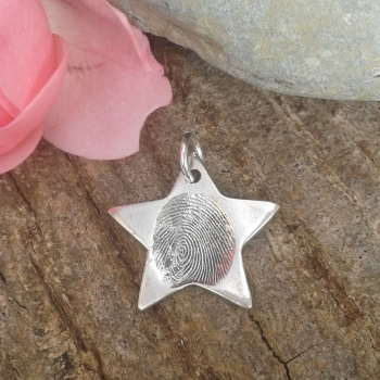 Fingerprint Star Charm