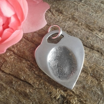 Fingerprint Hanging Bar Tiffany style pendant
