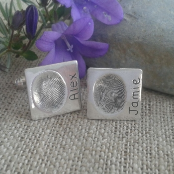 Fingerprint Cufflinks (standard size)