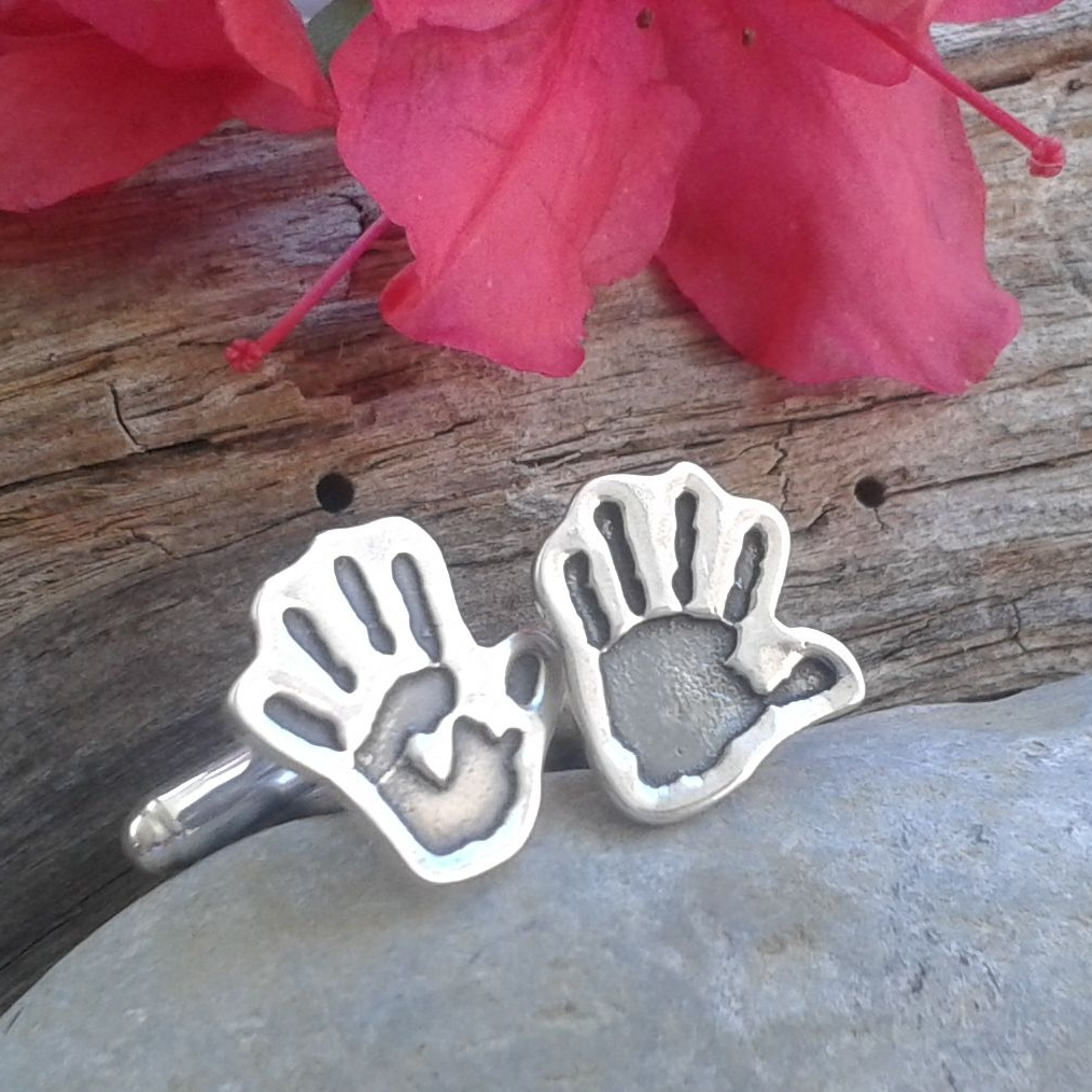 handprint and footprint cufflinks