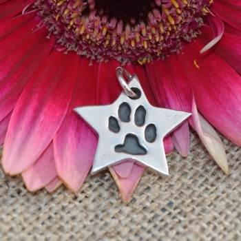 Paw Print Charm (various shapes)