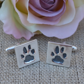 Paw Print Cufflinks (Various shapes)
