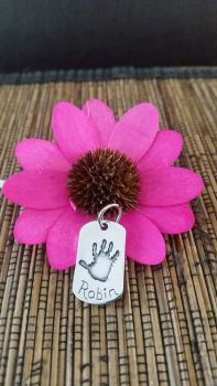 Handprint or Footprint Dog Tag