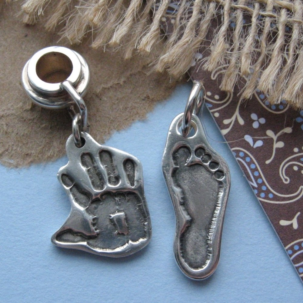 cut out handprint charm