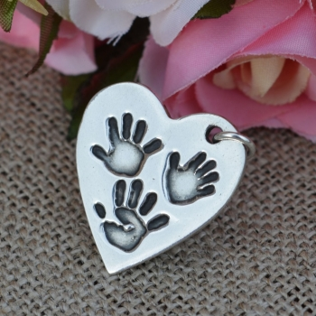 Triple Hand Print Pendant (various shapes)