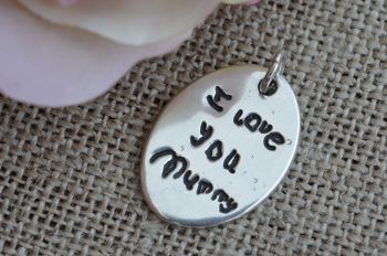 Silver handwriting pendant (all shapes)
