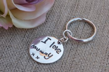 Sterling Silver Artwork or Writing Keyring