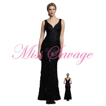 Bariano Lisa V-Neck Gown