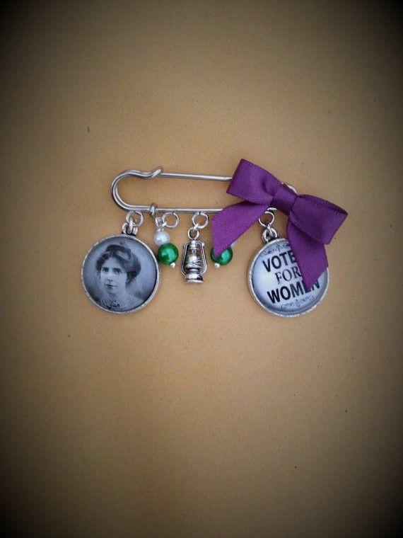Annie Kenney Suffragette Pin