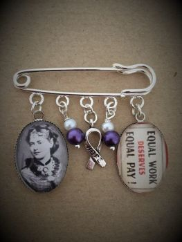 Eleanor Marx / Equal Pay Pin Brooch